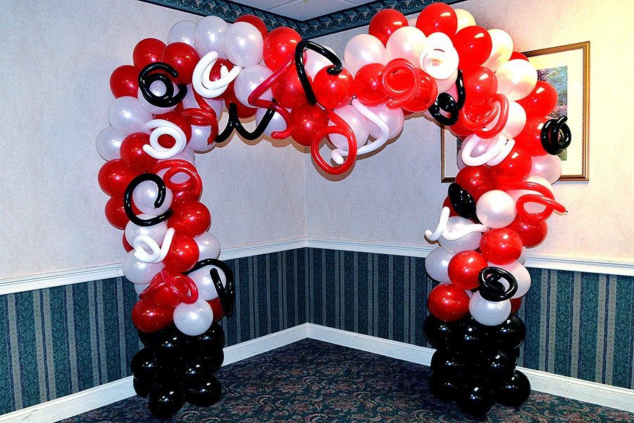 Red White And Black Wedding Decor
