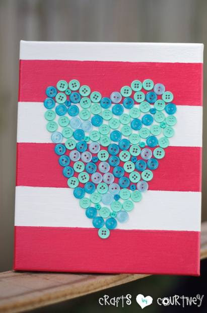 """Lovely"" Button Heart: Finishing Touches"