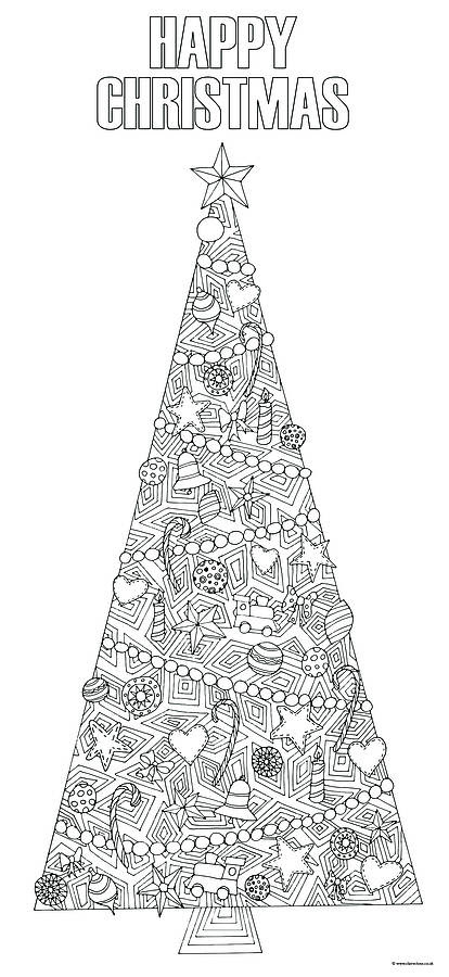 Christmas Tree Coloring Pages for Adults 2018 Dr. Odd ...