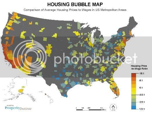 housing bubble map