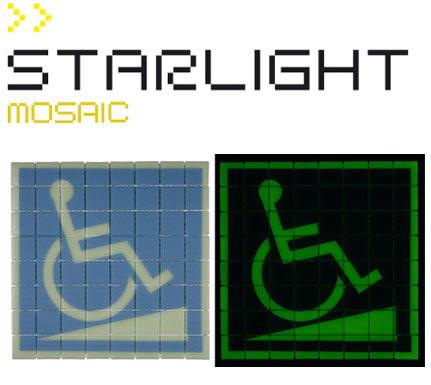 Starlight Mosaic un azulejo fotoluminiscente, decoracion, interiores