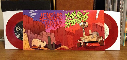 "Lenguas Largas / Mind Spiders - Sister Series Double 7"" - Red Vinyl by Tim PopKid"
