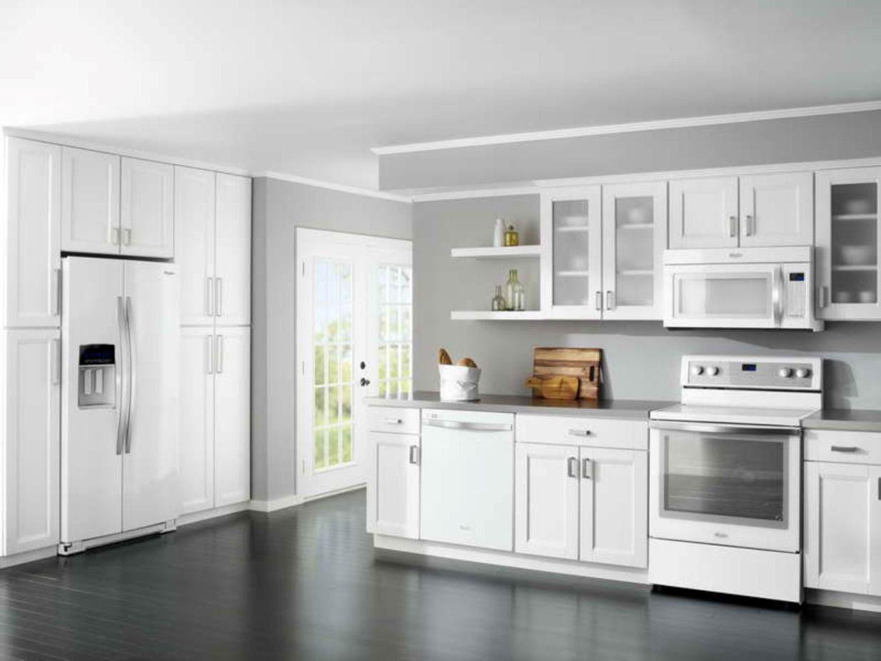Best-White-Kitchen-Cabinet-Color-Schemes-For-Dark-Wood ...
