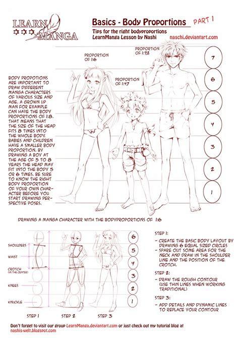 nashis world learn manga body proportions