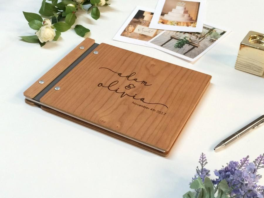 Wedding Guest Book Wood Guest Book Photo Booth Guestbook Rustic