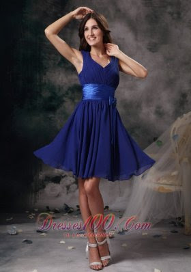 Peacock blue evening dress