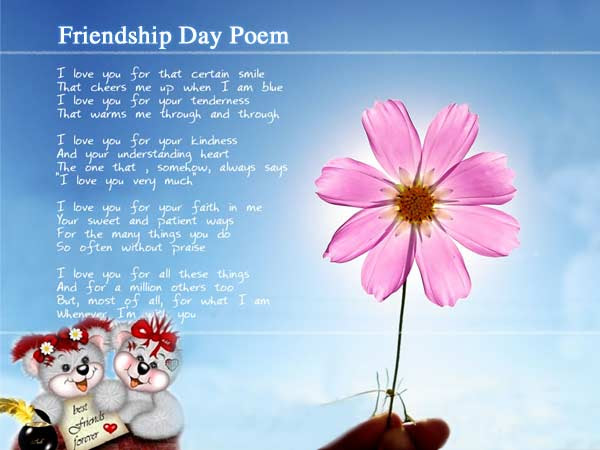 with friendship poems