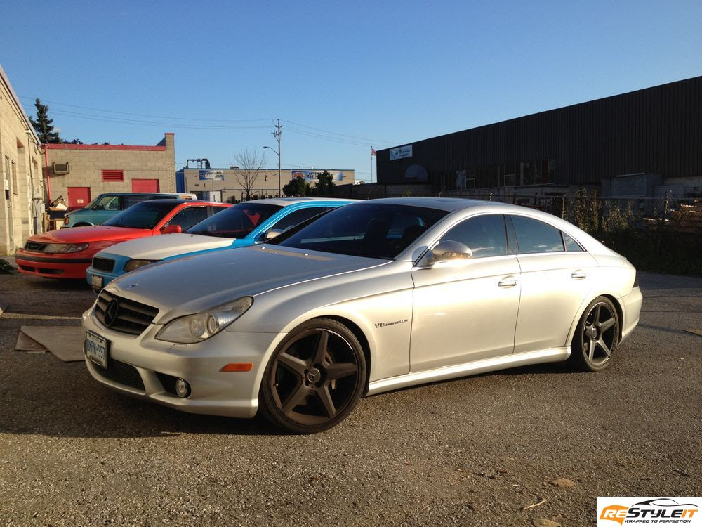 Matte Red Mercedes CLS 55 wrap - Vehicle Customization ...