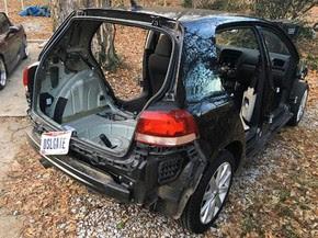 Proprietário tirou tudo o que podia do Golf, antes de devolver à Volkswagen (Foto: Reprodução/Instagram/Joe Mayer)