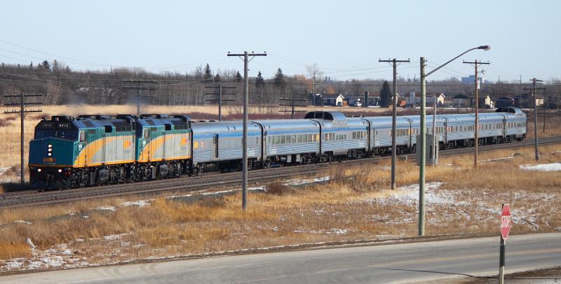 VIA 6412 in Winnipeg