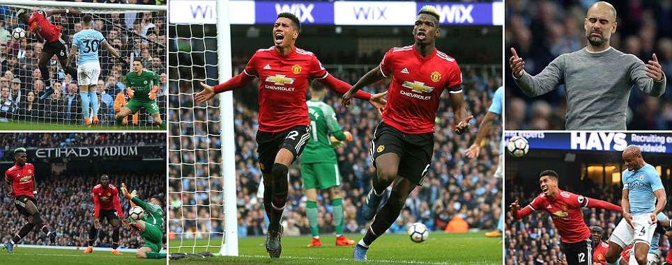 Man City 2-3 Man Utd: Chris Smalling denies rivals Premier League win