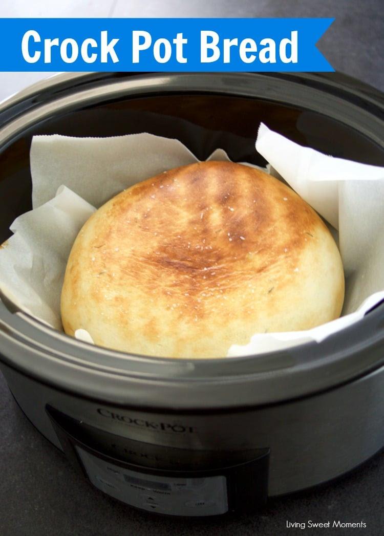 Herbed Crock Pot Bread Recipe - Living Sweet Moments