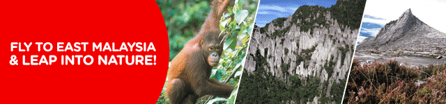 Fly to East Malaysia & leap into nature!