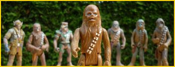 I honestly didn't know I had seven Chewbaccas before I took this picture...