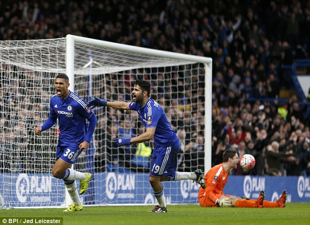 Chelsea youngsterRuben Loftus-Cheek, who replaced Oscar at half-time, fires his side into a 2-0 lead