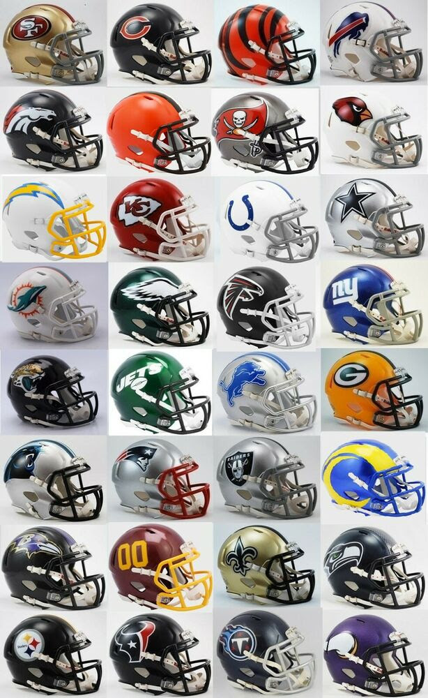 All 32 NFL Current Riddell SPEED Revolution Mini Football Helmets  eBay