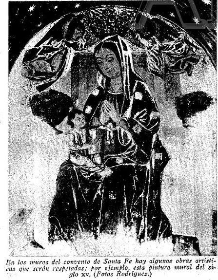 Pinturas en el Convento de Santa Fe a inicios del siglo XX. Diario ABC