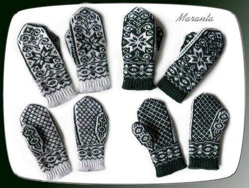 rękawiczki żakardowe norweskie