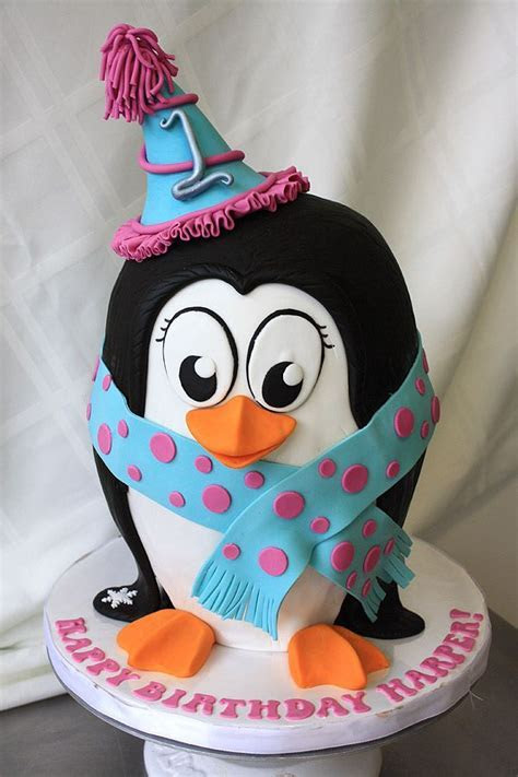 1000  ideas about Penguin Cakes on Pinterest   Penguin