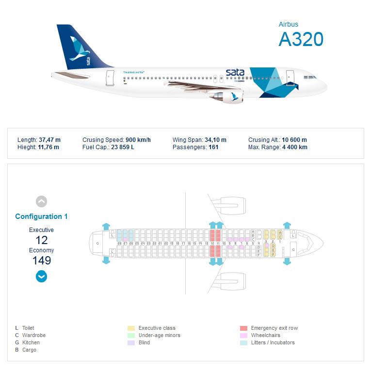 Airbus A320 Go Air Seat Map