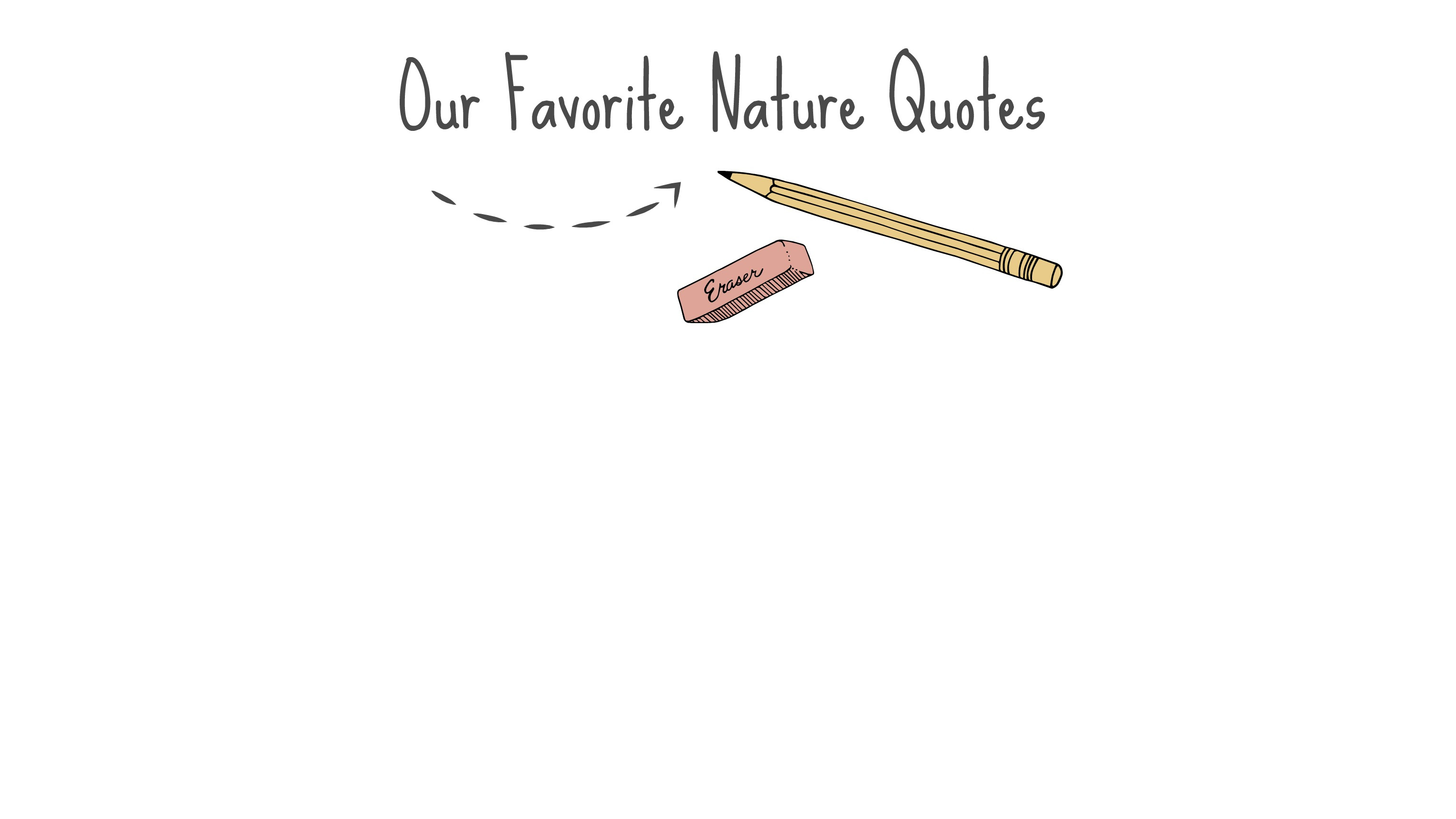 Nature Quotes Nature For Kids