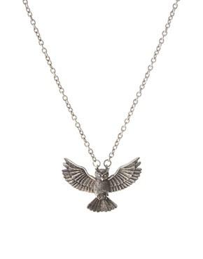 Image 1 ofASOS Owl Pendant Necklace
