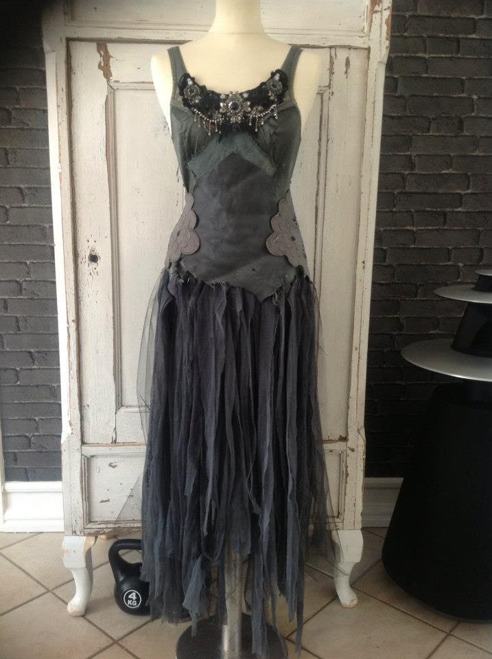 dress dark clothes forest witch clothing gothic forest