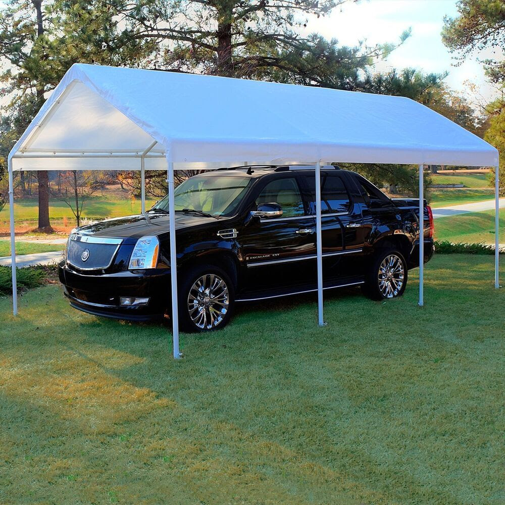 Replacement Canopy White 10 x 20 Carport Cover Frame Not ...