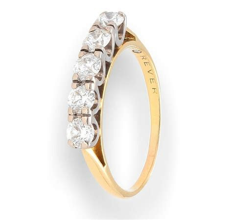 18Carat Yellow Gold Diamond 1.00ct Five Stone Eternity