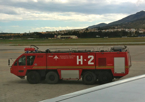 Malaga Airport fire truck by andynash