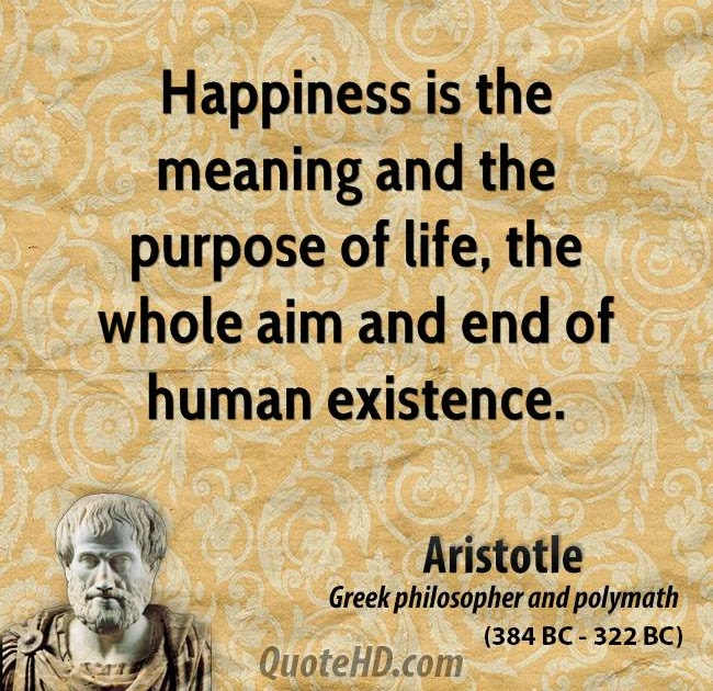 happiness is the greatest good in aristotles essay Aristotle uses the term eudaimonia to talk about happiness in the ethics while the word often translates as happiness, it really means something closer to flourishing or thriving as human beings in order to thrive, we must pursue (and achieve) the greatest human good, which aristotle defines .