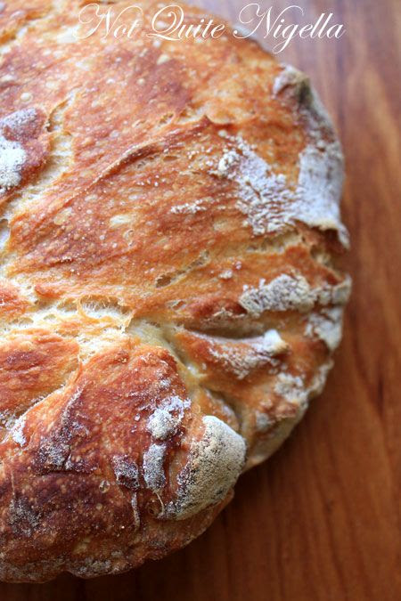 No Knead Bread, recipe, No Kneading bread @ Not Quite Nigella