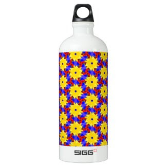 Yellow Pinwheel-like Design on SIGG Water Bottle SIGG Traveler 1.0L Water Bottle