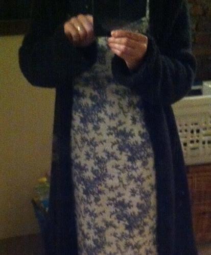 dress/turtleneck/cardi