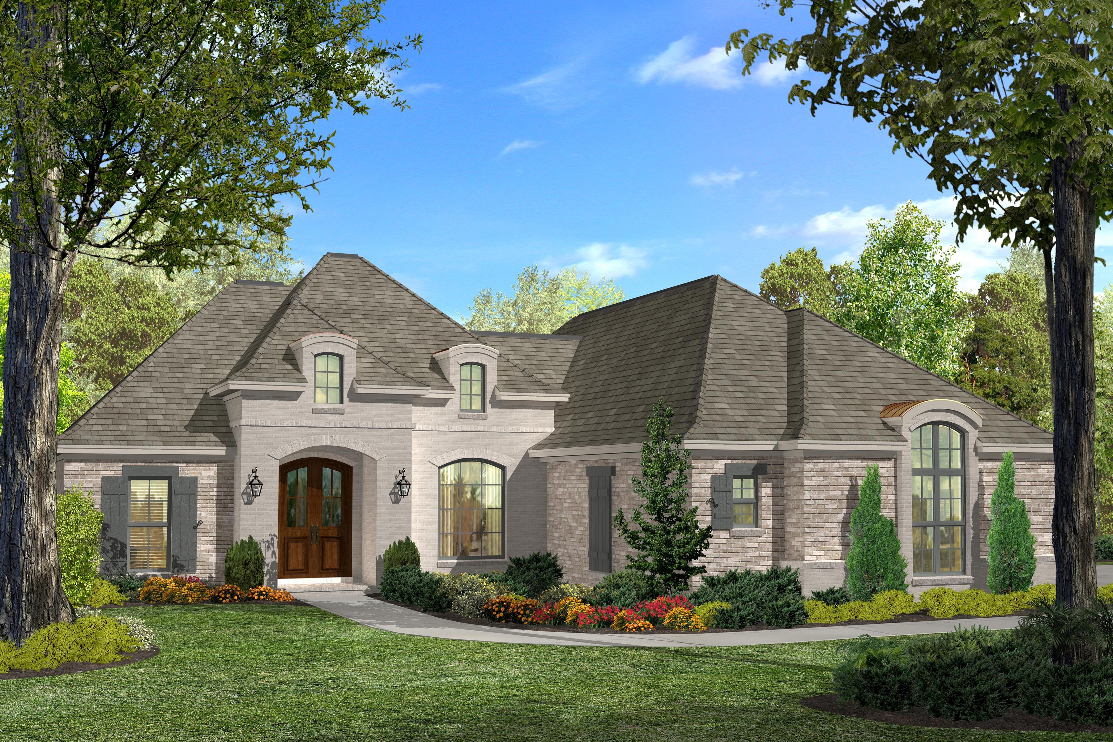 Acadian House Plan 1421124: 3 Bedrm, 1937 Sq Ft Home  ThePlanCollection