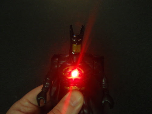 batman's chest laser