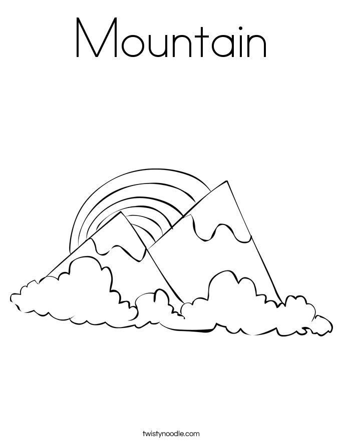 mountain 2_coloring_page
