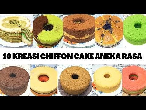 10 RESEP CHIFFON CAKE ANEKA RASA