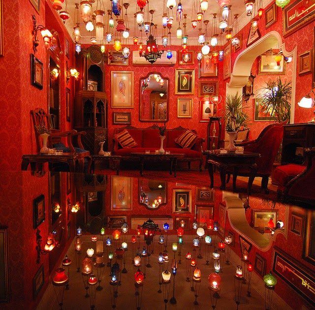 We're Locked In The Tombs Of Gravity: Coloured Glass Lamps