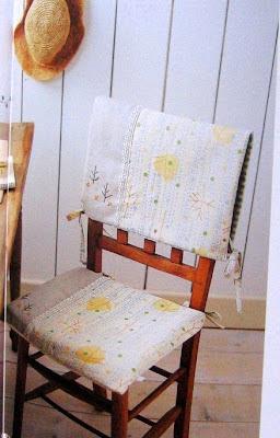 encosto cadeira tecido costura