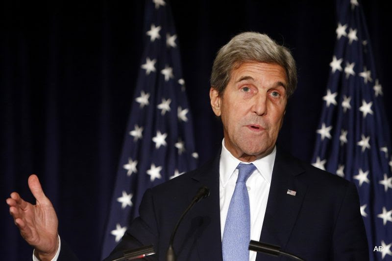 Secretary of State John Kerry is threatening to cut off all contacts with Moscow over Syria, unless Russian and Syrian government attacks on Aleppo end. The State Department says Kerry issued the ultimatum in a Wednesday, Sept. 28, 2016, telephone call to Russian Foreign Minister Sergey Lavrov.
