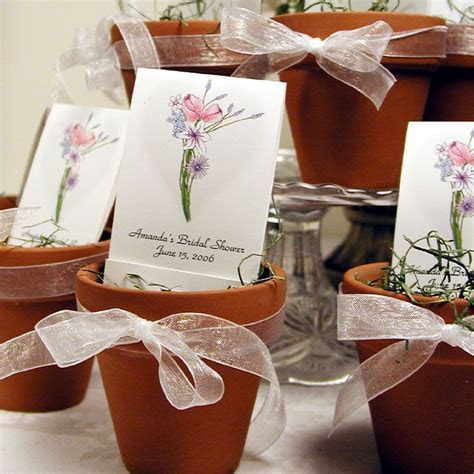 Terra cotta pots are adorable with Personalized Seed