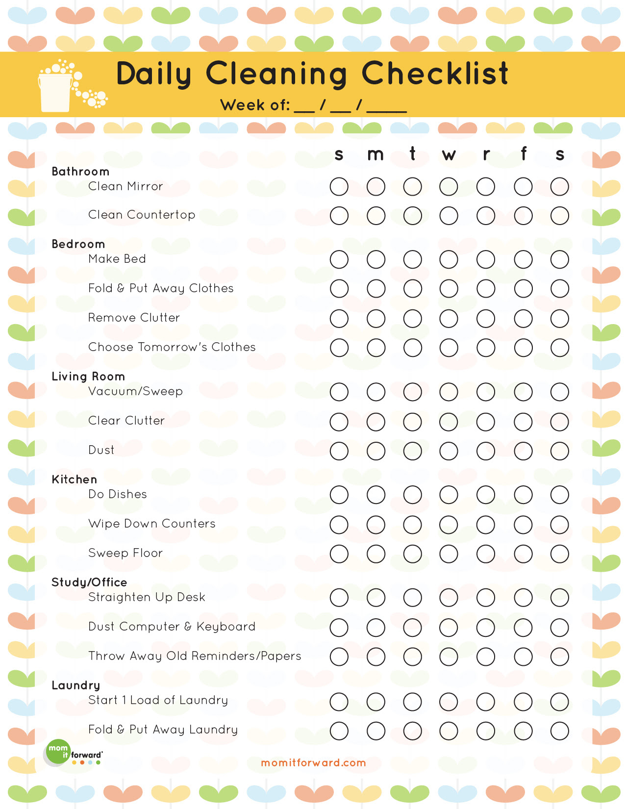 Daily Cleaning Checklist Printable - Mom it ForwardMom it Forward