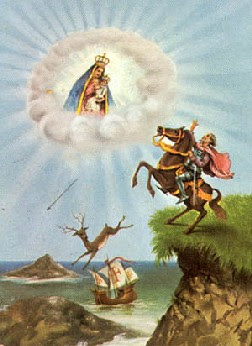 Our Lady of Nazare stopping the horse of Dom Fuas Roupinho