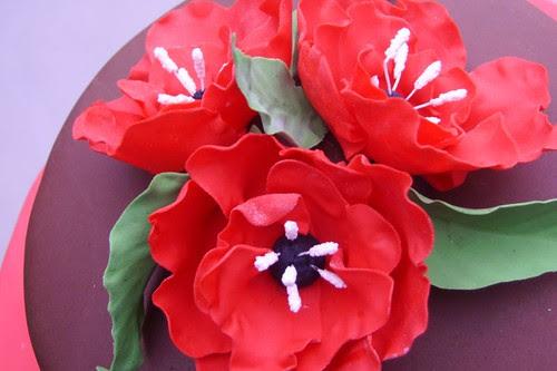 Gumpaste Poppies #1