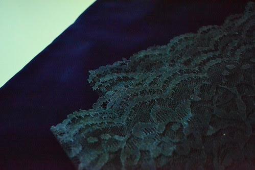 blue velvet with blue lace?