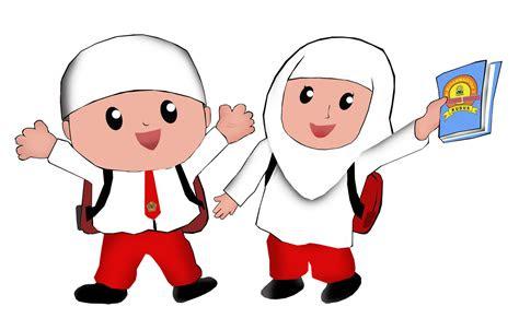 gambar kartun anak lucu muslim  muslimah