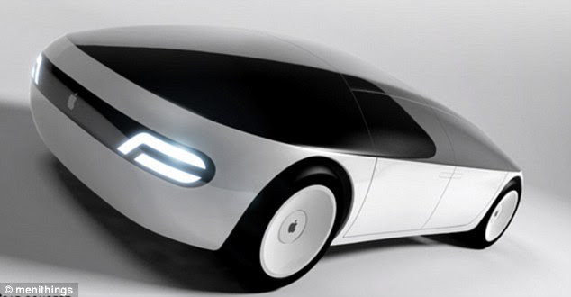 One designer's vision is of a semi-autonomous electric car in the minimalist tradition of Apple design, features external LED screens at the front and back with a discreet hatch and doors that open laterally