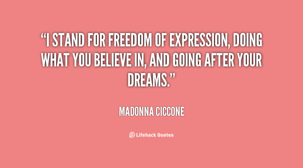 Quotes About Free Expression 65 Quotes