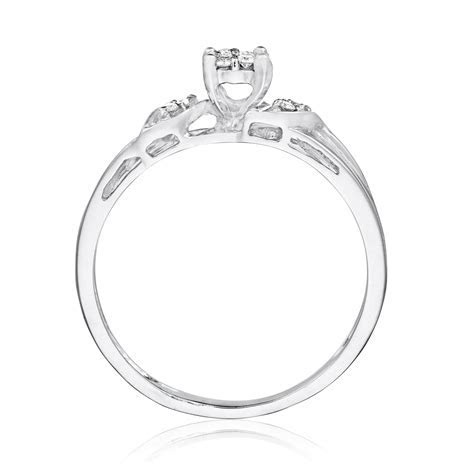 1/10 Carat T.W. Diamond Women's Engagement Ring 10K White